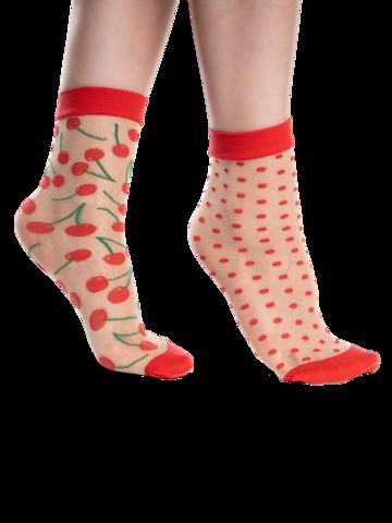 Lifestyle foto Весели найлонови чорапи Череши и точки