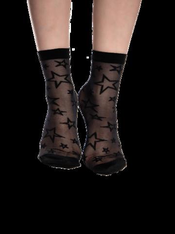 Potešte sa týmto kúskom Dedoles Vrolijke nylon sokken Zwarte sterren