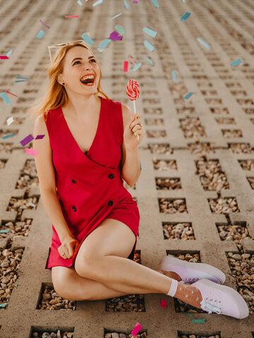 Foto Vidám nylon zokni Szívecskék és flamingók