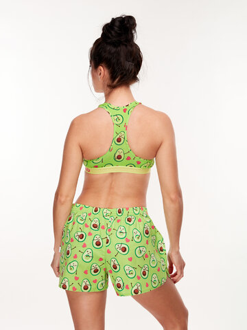 Geschenktipp Lustige Shorts für Frauen Avocado-Liebe