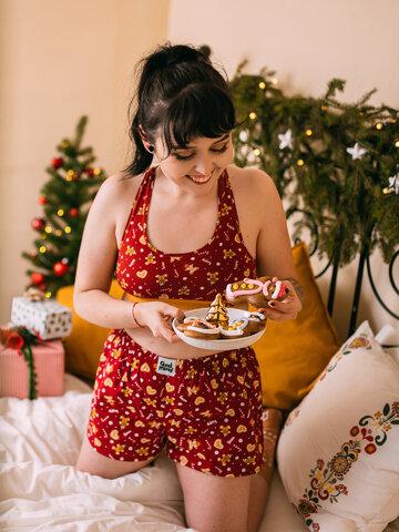 Bereiten Sie sich Freude mit diesem Dedoles-Stück Lustige Shorts für Frauen Lebkuchen-Welt