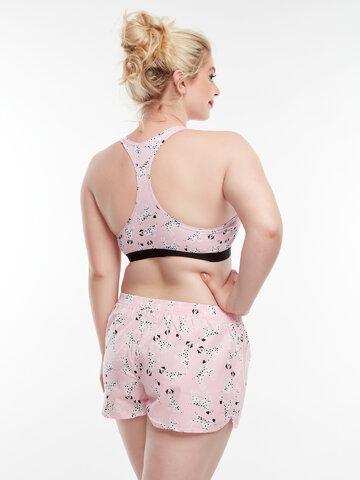 Zľava Veselé dámske trenky Ružové dalmatínce