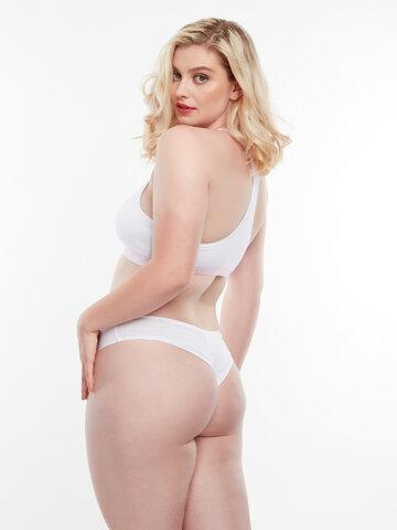 Tip na dárek Bílé dámské brazilské kalhotky