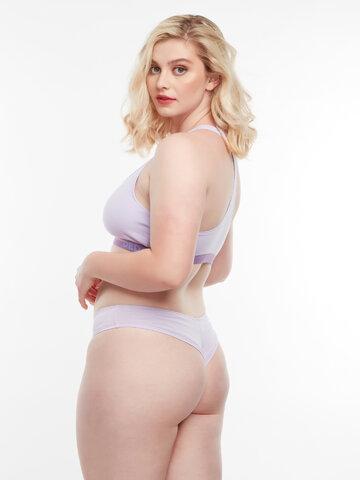Foto Pastelově fialové dámské brazilské kalhotky