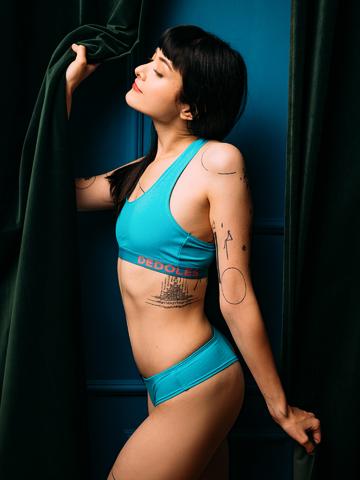 Gift idea Turquoise Women's Brazilian Panties