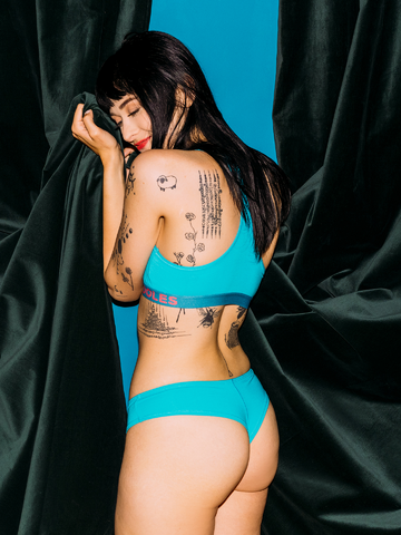 Looking for an original and unusual gift? The gifted person will surely surprise with Turquoise Women's Brazilian Panties