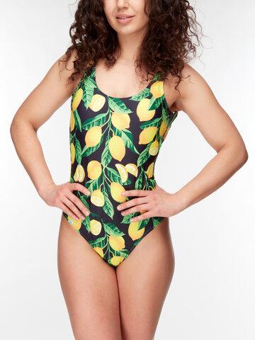 Dedoles oryginalny prezent Wesoły jednoczęściowy strój kąpielowy dla kobiet Cytryny