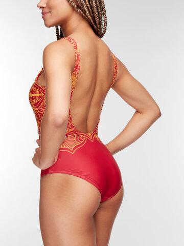 Szerezzen magának örömet ezzel a Dedoles darabbal Vidám egyrészes női fürdőruha Mandala