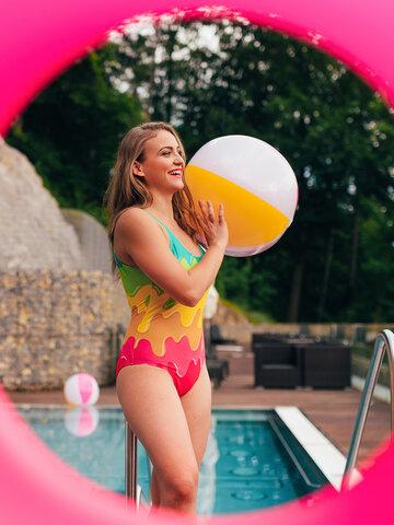 Gift idea Women's One-piece Swimsuit Colour Splash