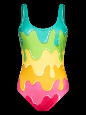 Sale Women's One-piece Swimsuit Colour Splash