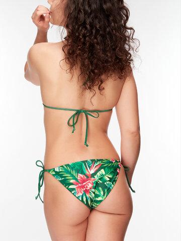Zdjęcie lifestyle Wesoły dół od bikini Tropikalne kwiaty