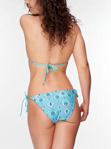 Eredeti ajándék a Dedolestől Vidám bikini felső Azték minta