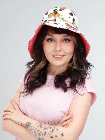 Hľadáte originálny a nezvyčajný darček? Obdarovaného zaručene prekvapí Sombrero alegre de pescador para mujer Mariposas de colores