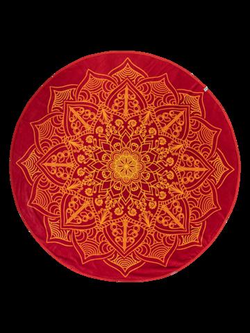 Lifestyle foto Živahna okrogla brisača za plažo Mandala