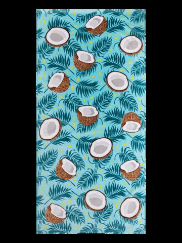 Lifestyle foto Veselý plážový uterák Kokosový orech