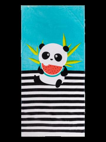 Sleva Veselý plážový ručník Panda na dovolené