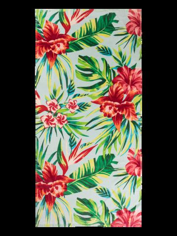 Zľava Veselý plážový uterák Tropické kvety