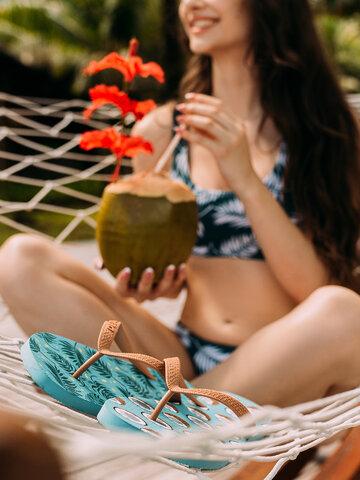 Suchen Sie ein originelles und außergewöhliches Geschenk? überrascht den Beschenkten sicher Lustige Flip-Flops Kokosnuss