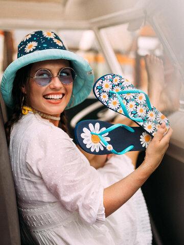Hľadáte originálny a nezvyčajný darček? Obdarovaného zaručene prekvapí Tongs rigolotes avec décoration Fleur de marguerite