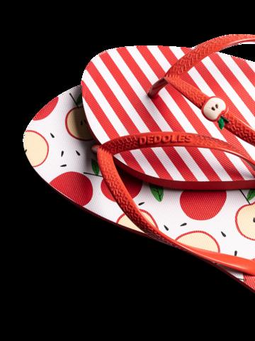 Ausverkauf Lustige Flip-Flops mit Verzierung Fröhlicher Apfel