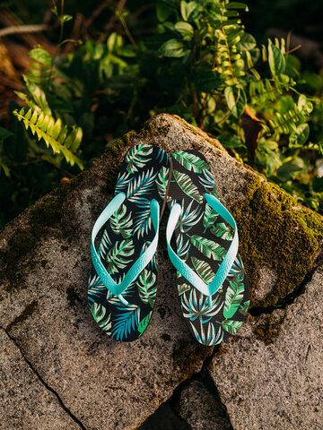 Căutați cadou unic și original? Va bucura enorm sărbătoritul Șlapi Veseli Frunze tropicale