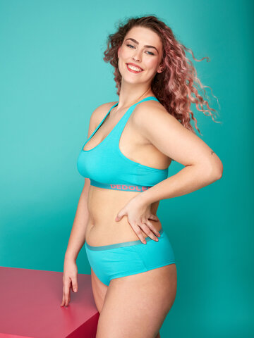Foto Türkisfarbene Bralette für Frauen