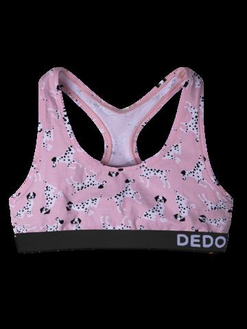 Tip na darček Vrolijke dames bralette Roze dalmatiërs