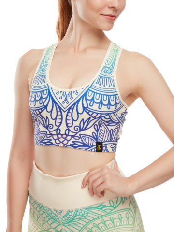 Looking for an original and unusual gift? The gifted person will surely surprise with Sports Bra Chakra Mandala