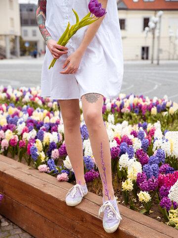 Foto Wesołe rajstopy Kwiat lawendy