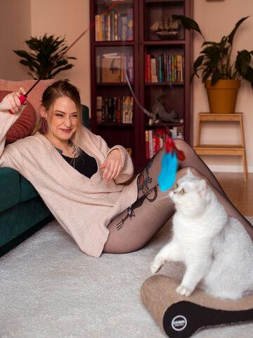 Potešte sa týmto kúskom Dedoles Veselé silonky Mačka a labky