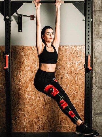 Obrázok produktu Vrolijke high-waisted leggings Klaproos