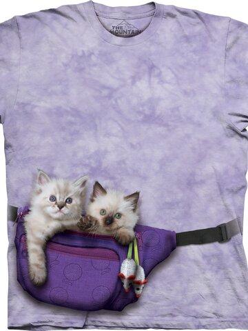 Bereiten Sie sich Freude mit diesem Dedoles-Stück Kinder T-Shirt Kätzchen in Nierentasche