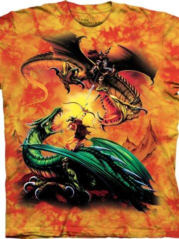 für ein vollkommenes und originelles Outfit T-Shirt Drachenduell