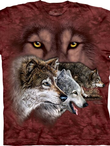 Tip na darček Tričko Nájdi 9 vlkov