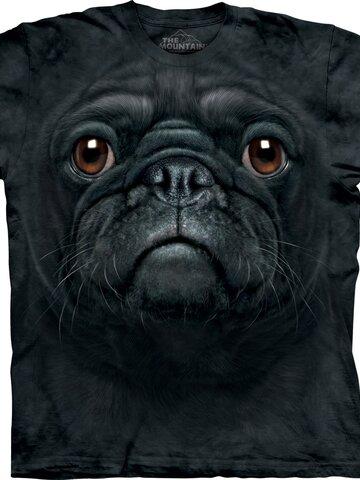 Pre dokonalý a originálny outfit Tričko Tvár čierneho mopslíka