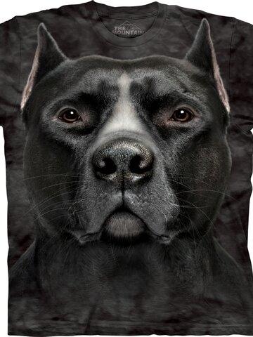 Pomysły na prezenty Black Pitbull Dog Head Adult