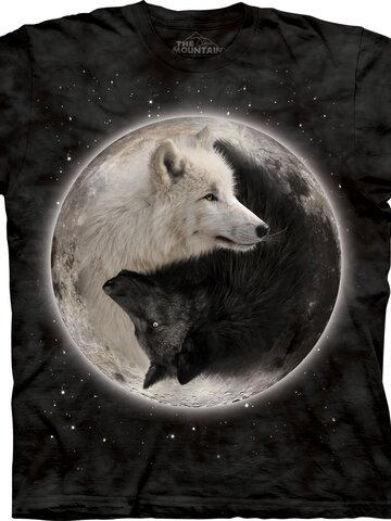 Výpredaj Tričko Jing Jang Vlky
