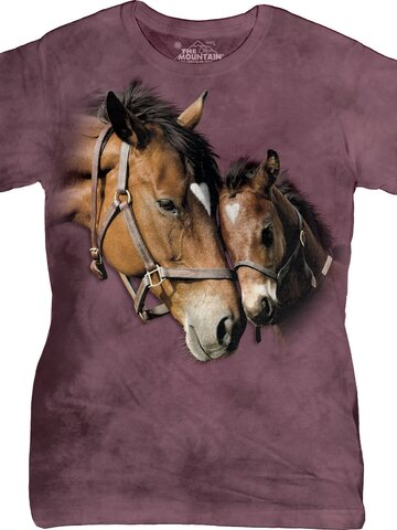 Lifestyle foto Two Hearts Horses T Shirt