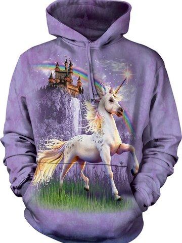 Rabatt Sweatshirt mit Kapuze Einhorn