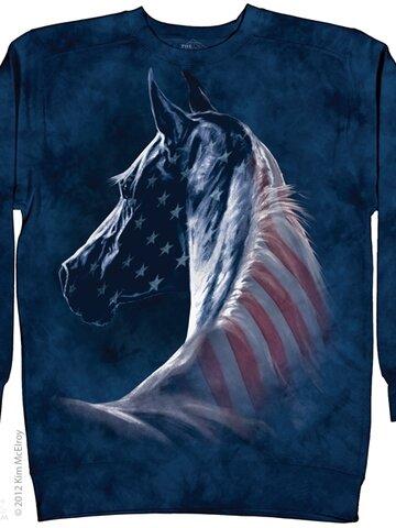 Výnimočný darček od Dedoles Mikina bez kapucne Americký kôň