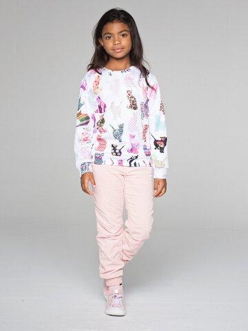 Lifestyle foto Otroški pulover brez kapuce Vzorčaste mačke