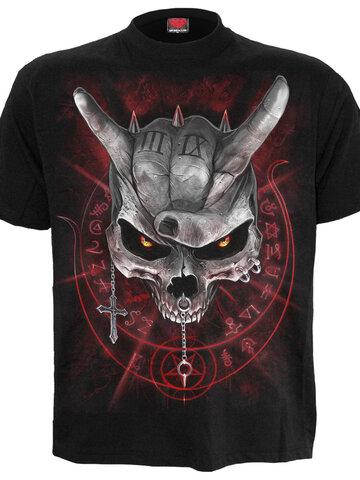 Výnimočný darček od Dedoles Detské čierne tričko Lebka s rohami