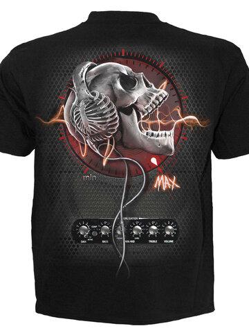 Tip na darček Detské čierne tričko Lebka s rohami