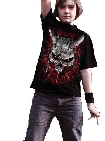 Obrázok produktu Detské čierne tričko Lebka s rohami