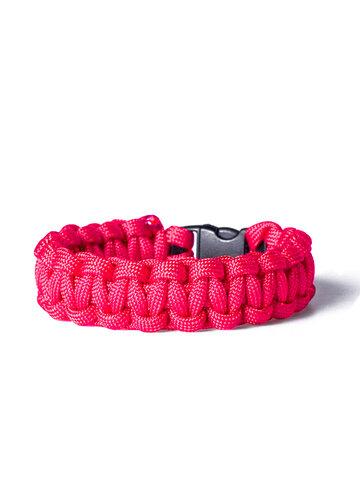 pro dokonalý a originální outfit Paracord survival náramek - růžový