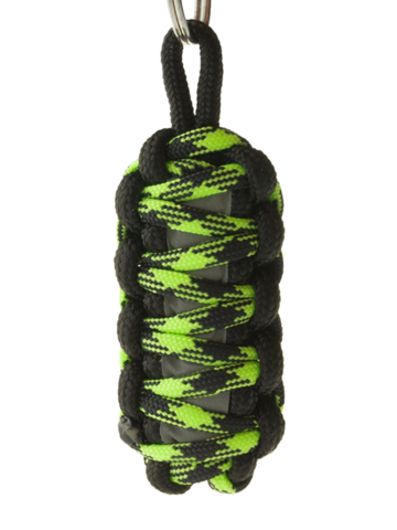 Výnimočný darček od Dedoles Reflexný paracord prívesok prežitia King Cobra - zeleno-čierny