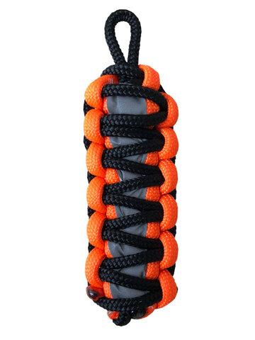 Tip na darček Oranžová reflexná paracord kľúčenka King Cobra
