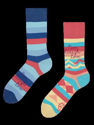 Pre dokonalý a originálny outfit Veselé ponožky Ži, miluj a smej sa