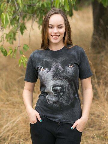 Výpredaj Tričko Tvár čierneho labradora