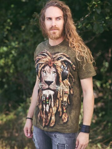 Kedvezmény Raszta oroszlán póló